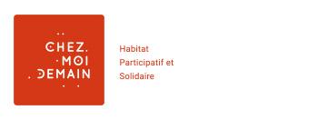 Logo de Chez moi demain, société d'assistance a maîtrise d'ouvrage - AMO - spécialisée en projets d'habitats groupés : habitat participatif, habitat collaboratif, co-construction, co-habitat