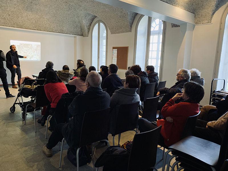 Photo de la première réunion publique du projet d'habitat participatif de la rue de Paradis à saint-Chamond - Chez moi demain AMO du projet